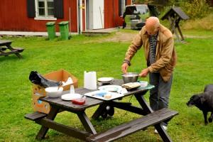 Lördagns höjdpunkt - SM3CLA/Karl Olof bjuder på våfflor