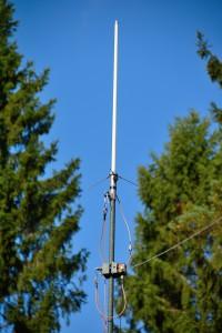 2m blindkäpp på WEO's teleskopmast